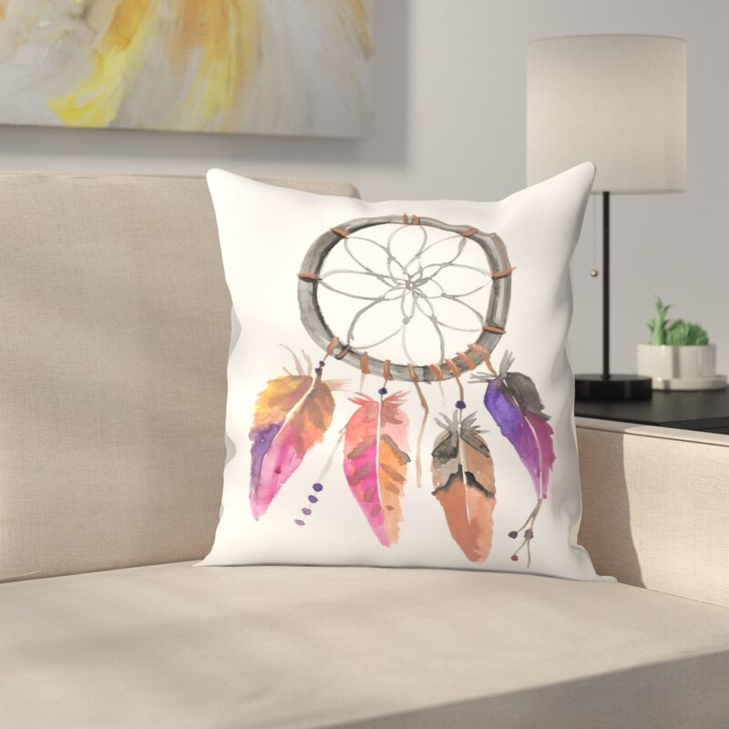 jetty printables watercolor dream catcher throw pillow