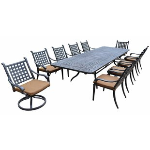 Arness 16 Piece Bar Height Dining Set