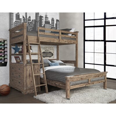 berrima twin over twin lshaped bunk bed with 4 drawer chest and lower bed