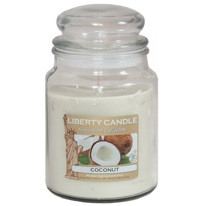 Bubble Glass Smooth Soy Wax Blend Coconut Scent Jar Candle
