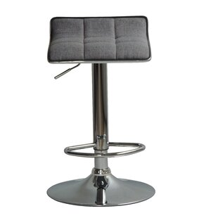 Compare prices Hurwitz Back Adjustable Height Swivel Bar Stool (Set of 2) by Orren Ellis Reviews (2019) & Buyer's Guide
