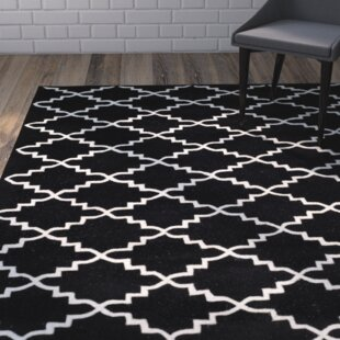 Shop For Wilkin Hand-Tufted Wool Black/Ivory Area Rug By Wrought Studio