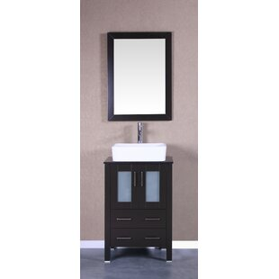 Tenafly 24 Single Bathroom Vanity Set with Mirror by Bosconi