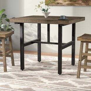 Loon Peak Somers Reclaimed Wood Counter Height Dining Table