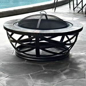 Glendale Steel Wood Burning Fire Pit Table