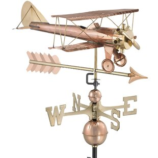 Arrow Biplane Weathervane By Good Directions