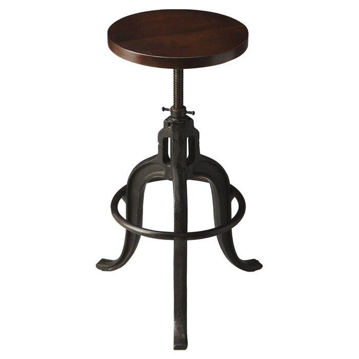 adjustable height bar stools with wheels arms
