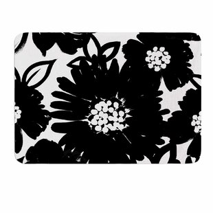 Monochromatic Blooms by Emine Ortega Memory Foam Bath Mat