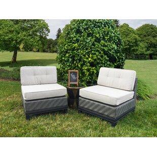 Jamarion Armless Chair with Sunbrella Cushions (Set of 2) by Brayden Studio