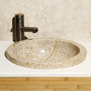 Stone Circular Drop-In Bathroom Sink ByAllstone Group