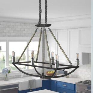 Ballantine 6-Light Kitchen Island Pendant by Beachcrest Home