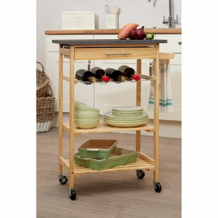 Wybron Kitchen Trolley With Granite Top By 17 Stories