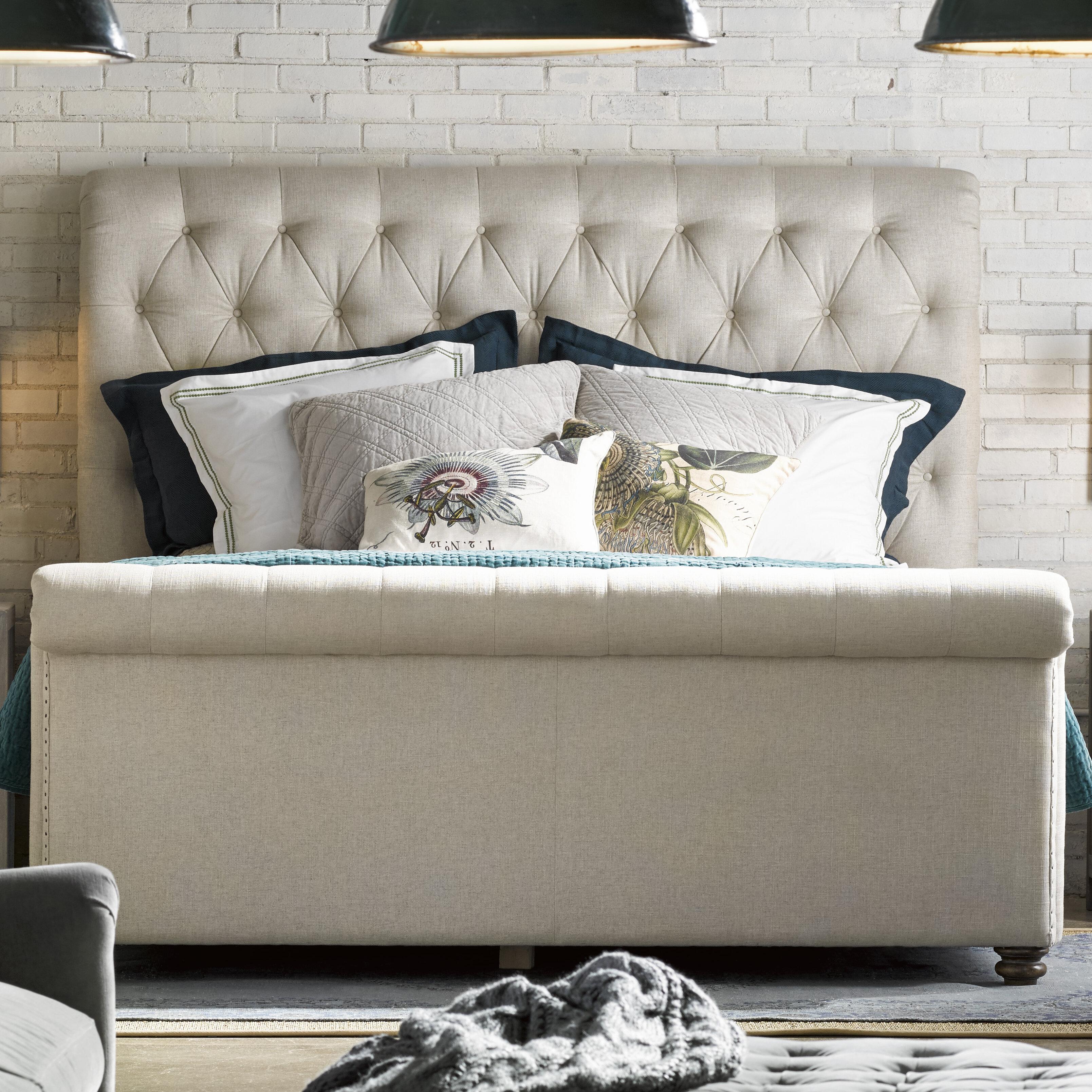 Benson Upholstered Sleigh Bed