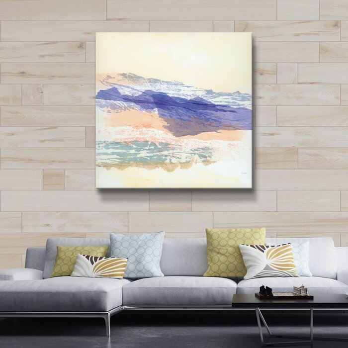 Abstract Mountain Watercolor Painting Print On Canvas