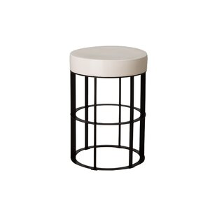 Spitler Pedestal Ceramic End Table
