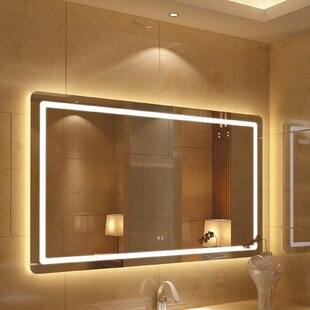 Affordable Price Bode Back Lit LED Daylight Bathroom Mirror By Orren Ellis