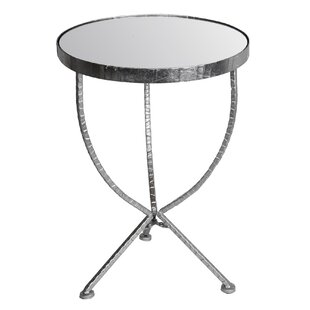 Waltham Cross Iron & Glass Stand End Table by Mercer41