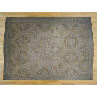 One-of-a-Kind Bogle Antique Turkish Oushak Hand-Knotted 19'2'' x 24'7'' Wool/Silk Brown Area Rug By Isabelline