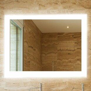Bathroom mirror side lights wayfair royal bathroom mirror aloadofball Choice Image
