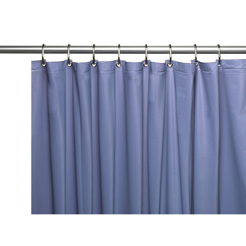 Ben And JonahVinyl 3 Gauge Shower Curtain Liner With Weighted Magnets And  Metal Grommets