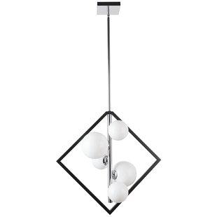 George Oliver Wendt 5-Light Geometric Chandelier