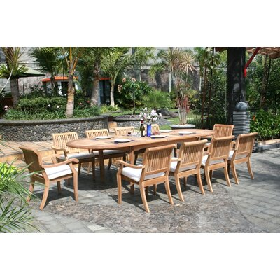 Masten 11 Piece Teak Dining Set by Rosecliff Heights Reviews