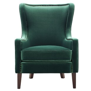 Comeau Rosco Wingback Chair by Everly Quinn