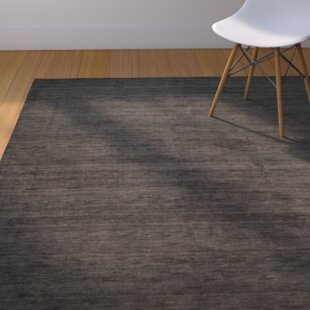 Aghancrossy Hand-Loomed Charcoal Area Rug byLangley Street