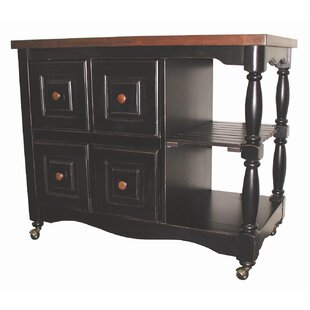 Sunset Trading Sunset Selections Kitchen Island with Butcher Block