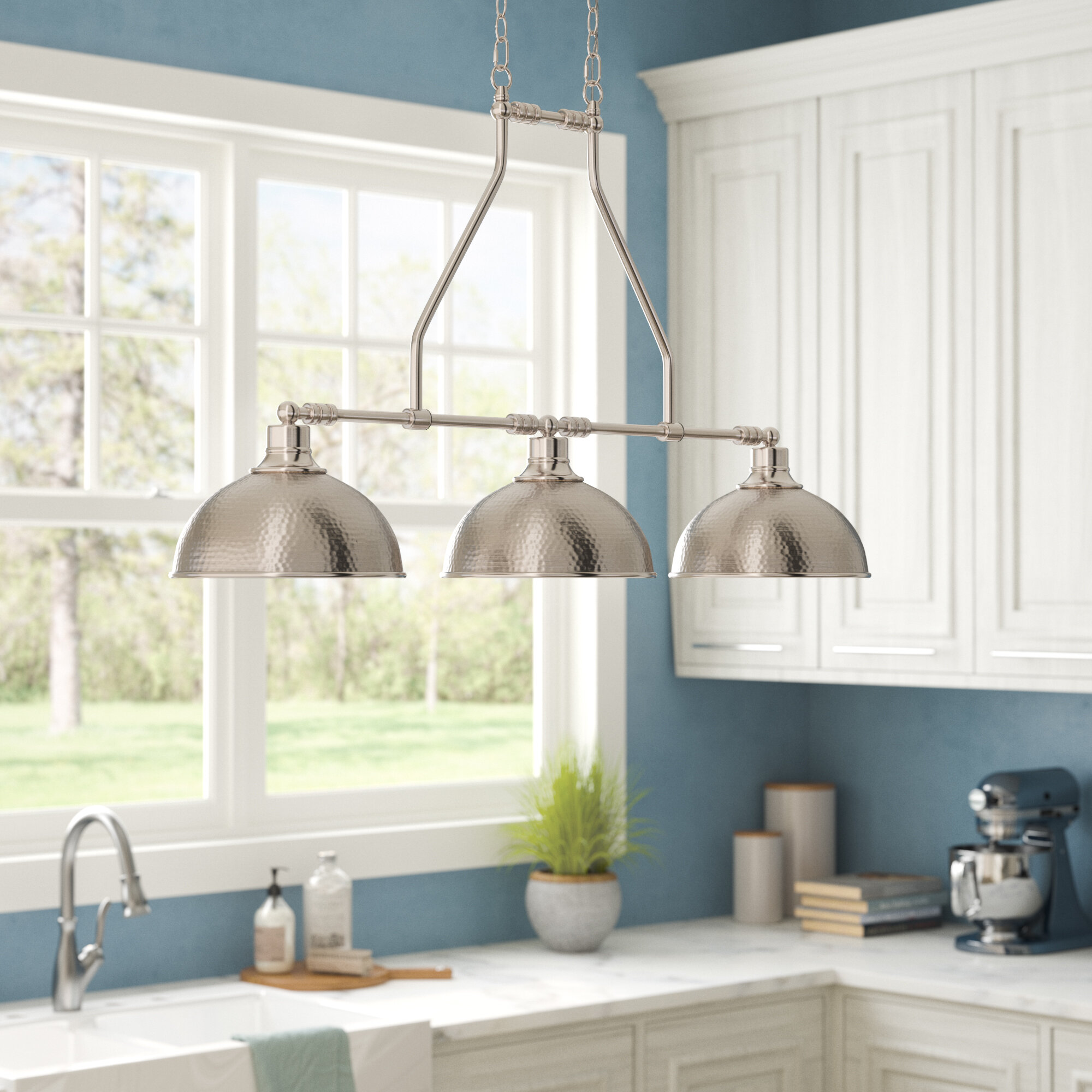 Beachcrest Home Bridgepointe 3 Light Kitchen Island Linear Pendant Reviews Wayfair