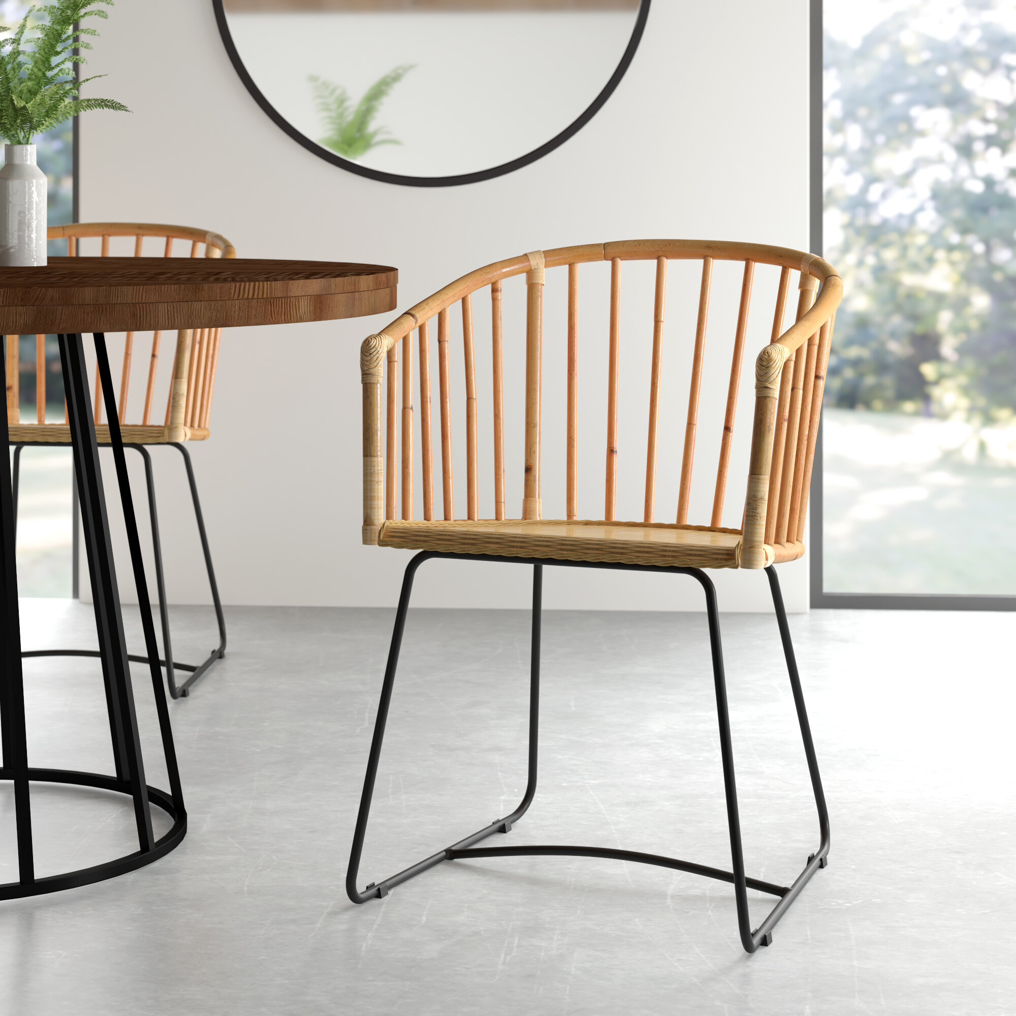 Silva Windsor Back Arm Chair In Natural
