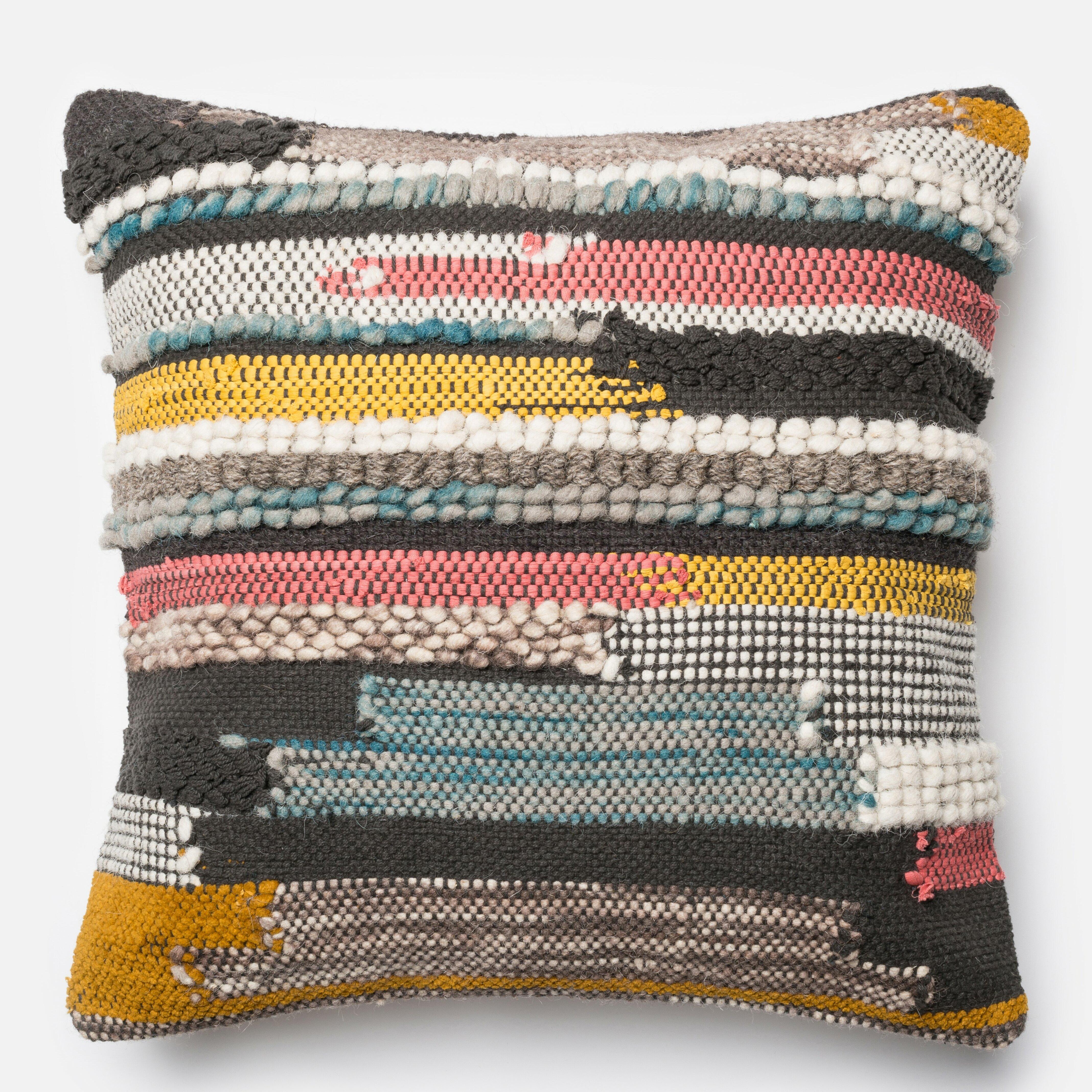 Mistana Halle Textured Throw Pillow Reviews Wayfair