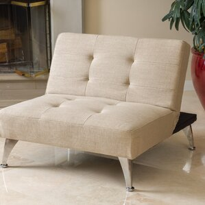 Lewis Solid Click Clack Oversized Convertible Chair