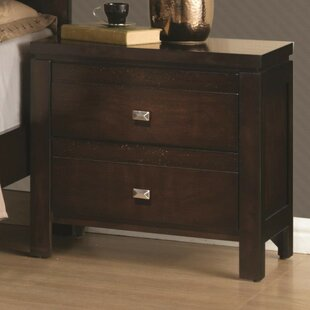 Prosser Wooden 2 Drawer Nightstand by Breakwater Bay