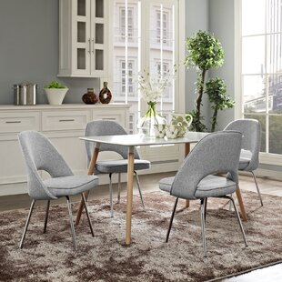 Bradway Upholstered Dining Chair (Set of 4) by Mercury Row