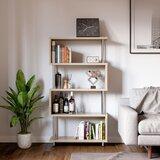 Bele 59.65'' H x 31.5'' W Geometric Bookcase by Latitude Run®