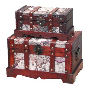 World Menagerie Quesada Old World Map 2 Piece Trunk Set