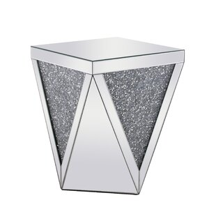 Khalil Crystal End Table by Rosdorf Park