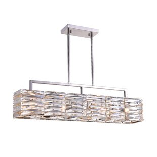 CWI Lighting Squill 4-Light Crystal Chandelier