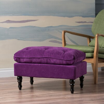Bateman Ottoman Upholstery Color: Purple by Andover Mills