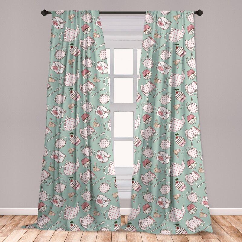 East Urban Home Tea Party Polka Dot Room Darkening Rod Pocket Curtain Panels Wayfair
