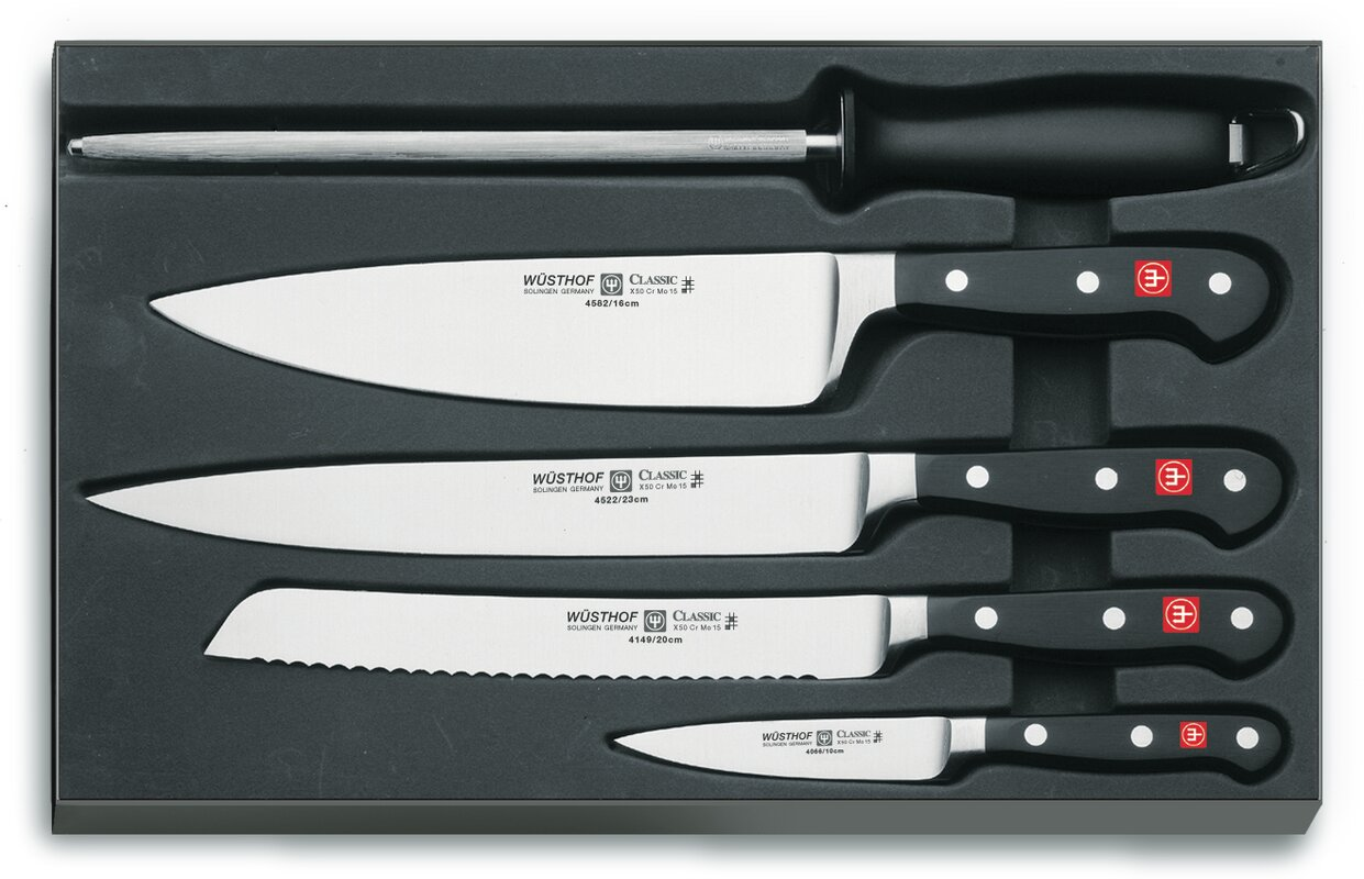 Wusthof Classic 5 Piece Chef's Knife Set & Reviews | Wayfair