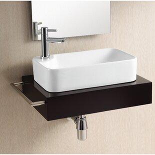 Caracalla Ceramica Ceramic Rectangular Vessel Bathroom Sink