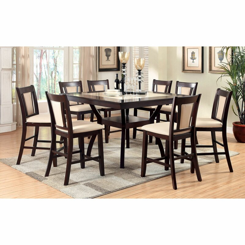 White Cane Outdoor Furniture, Alcott Hill Mingus Counter Height Dining Table Wayfair