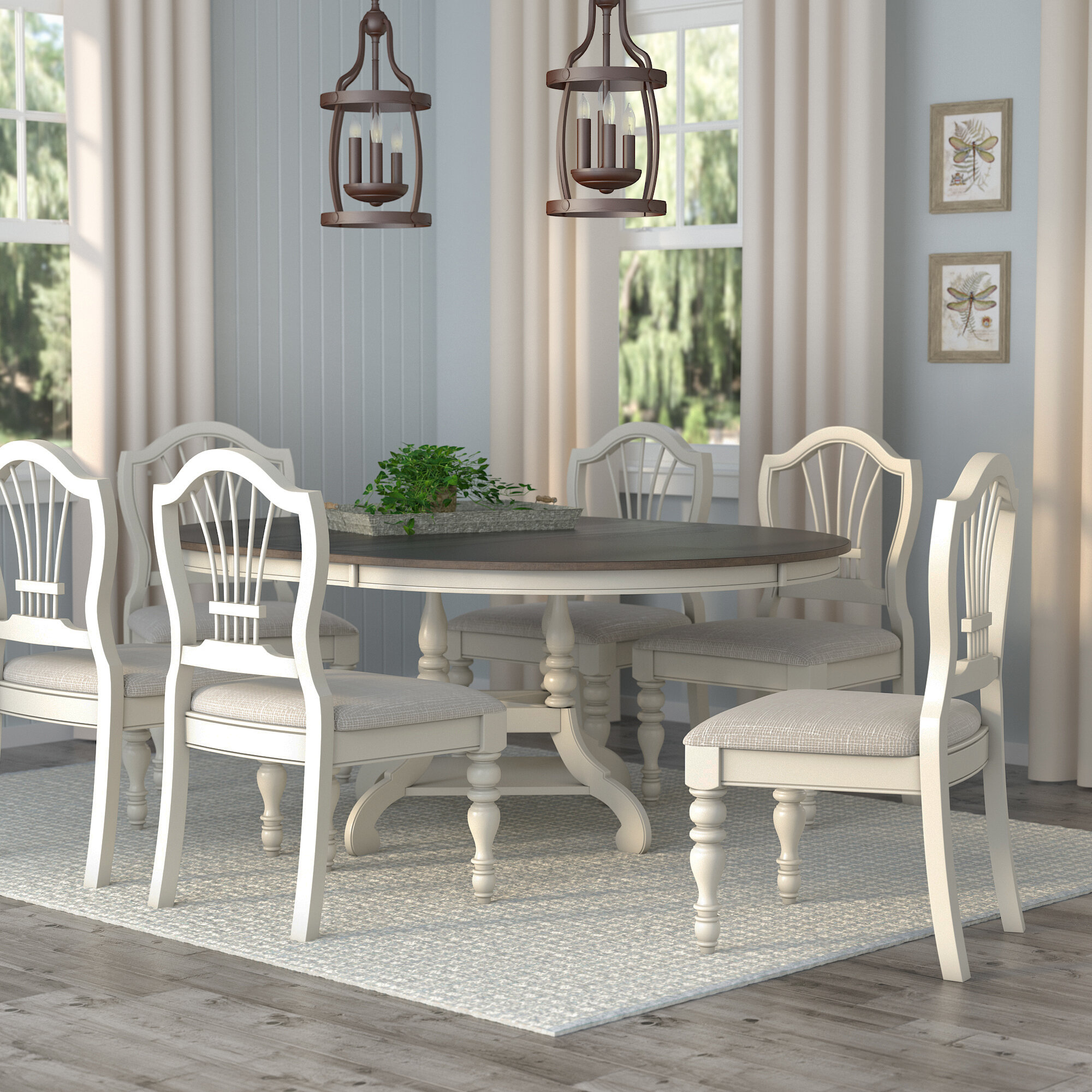 Lark manor alise 7 piece dining set reviews wayfair