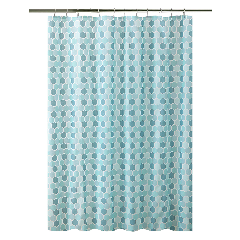 Bath Bliss PEVA Hexagon Design Shower Curtain | Wayfair