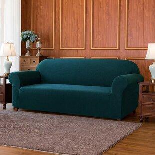 Spandex Stretchy Box Cushion Loveseat Slipcover By Rosalind Wheeler