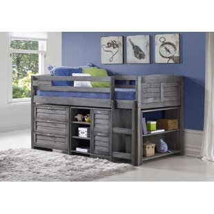 Myron Single Mid Sleeper Loft Bed With Chest Of Drawers By Harriet Bee