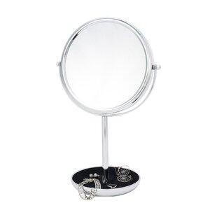 Red Barrel Studio 10x Magnify Lined Jewelery Makeup Mirror