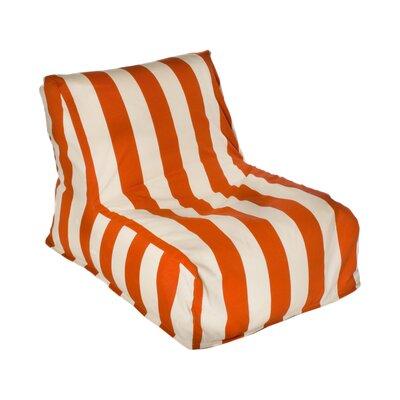 Beachcrest Home Merrill Bean Bag Lounger Upholstery: Orange/Off-White